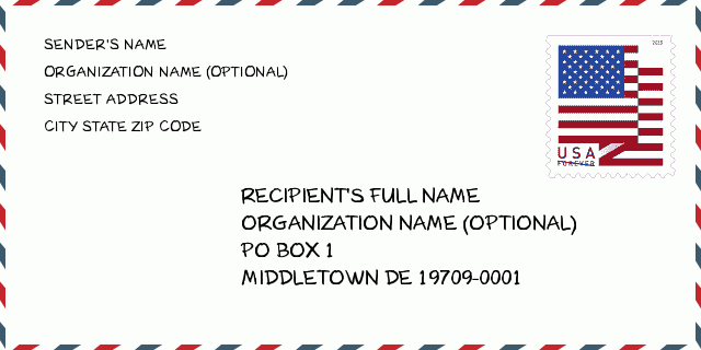 Zip code middletown de
